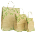 twisted handle brown gift bags