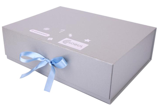 hinged lid rigid boxes with ribbon closure