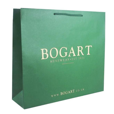 luxury white kraft bags