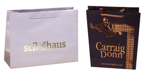 euro tote paper bags with hot stamping logo
